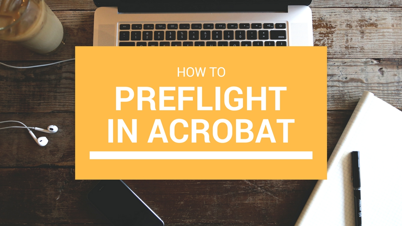 How to Preflight in Acrobat Title