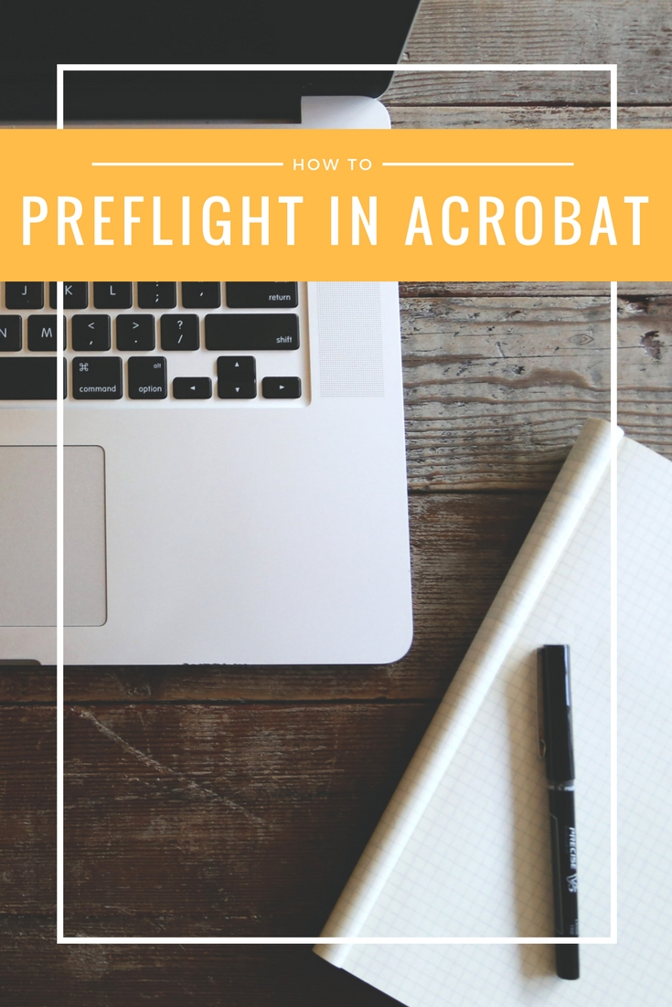 How to Preflight in Acrobat Pinterest